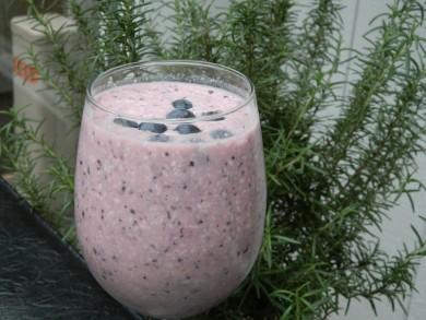 Рецепт Чернично-кокосовый смузи