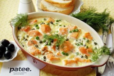 Рецепт Запеканка из форели с картофелем