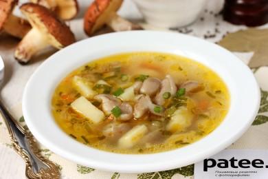 Рецепт Грибной суп с маслятами