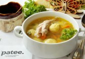 Суп из индейки с кукурузными шариками