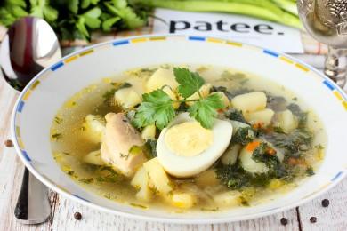 Рецепт Куриный суп с молодой крапивой