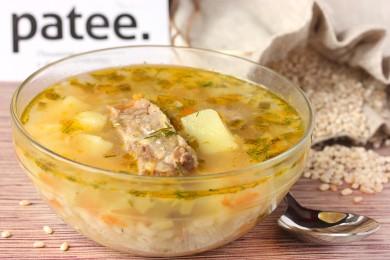 Рецепт Рассольник со свиными рёбрами и перловой крупой