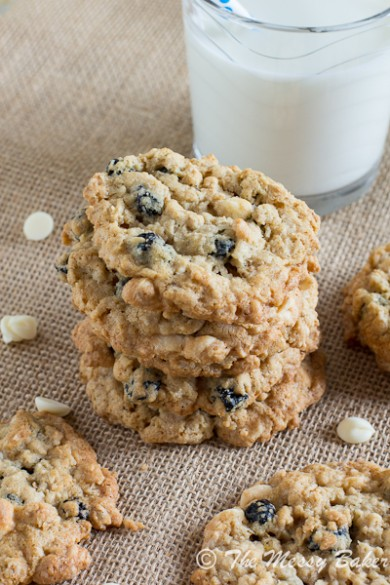 Рецепт Овсяное печенье с черникой