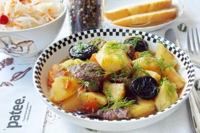 Рецепт Говядина с черносливом и картофелем