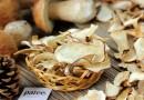 Как сушить белые грибы в духовке