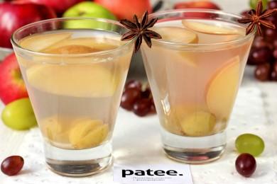Рецепт Виноградно-яблочный компот