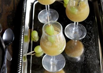 Рецепт Гранита из винограда с шампанским