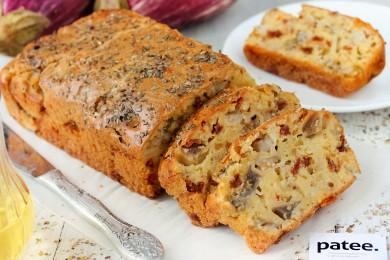 Рецепт Закусочный кекс с баклажанами и вялеными помидорами
