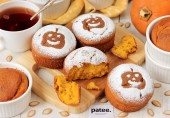 Тыквенно-кукурузные кексы на Хэллоуин