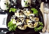 Яйца, фаршированные грибным кремом в Хэллоуин