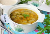 Суп из белых грибов с манной крупой