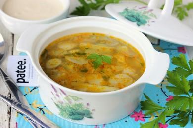 Рецепт Суп из белых грибов с манной крупой