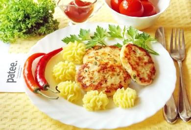 Рецепт Котлеты из индейки с сыром и отварными яйцами