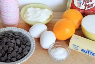 Лимонные кексы с шоколадом - приготовление