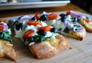 Греческая пицца на лепешках
