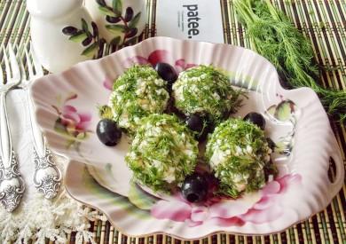 Рецепт Закуска из семги Морская