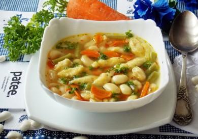 Рецепт Суп с фасолью и клецками