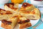 Пирог заливной с грушами