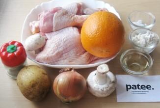 Курица с картофелем в апельсиновом соусе - приготовление
