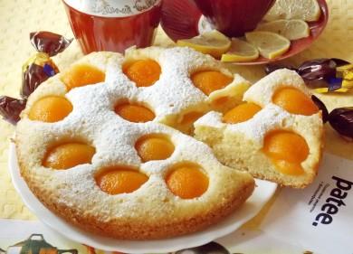 Рецепт Пирог с абрикосами в мультиварке — рецепт для мультиварки