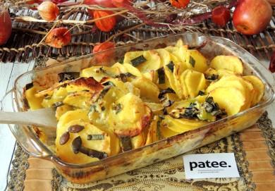 Рецепт Картофельный гратен с тыквенными семечками