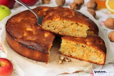 Рецепт Медовый пирог с орехами и яблоками