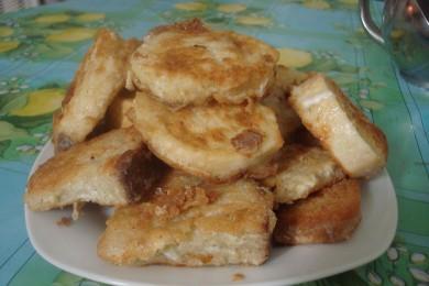 Рецепт Батон в яйце на завтрак по быстрому