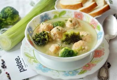 Рецепт Суп с фрикадельками из семги и картофеля