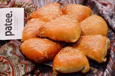 Рецепт Слоенная самса с тыквой и кунжутом
