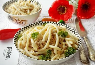 Рецепт Макароны по-флотски с отварным мясом