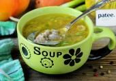 Гречневый суп с куриными желудочками