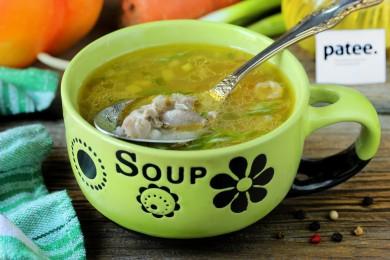 Рецепт Гречневый суп с куриными желудочками