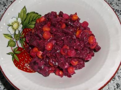 Рецепт Салат свекла с кукурузой