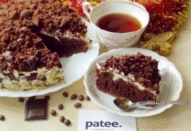Рецепт Шоколадно-кофейный пирог с кремом