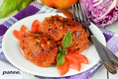 Рецепт Ленивые голубцы с краснокочанной капустой
