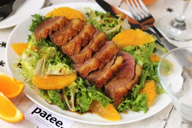 Рецепт Салат с утиной грудкой и апельсинами