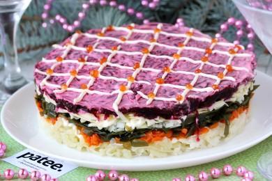 Рецепт Салат Шуба с морской капустой и сыром