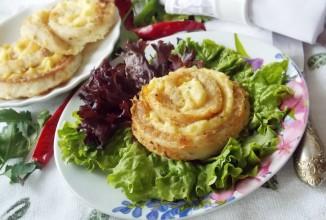 Розы из рыбы и картофельного пюре - приготовление