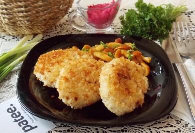 Рецепт Котлеты из тунца с сыром и сметаной