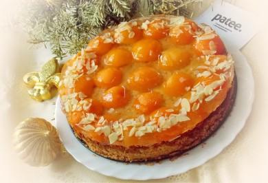 Рецепт Миндальный торт с абрикосами