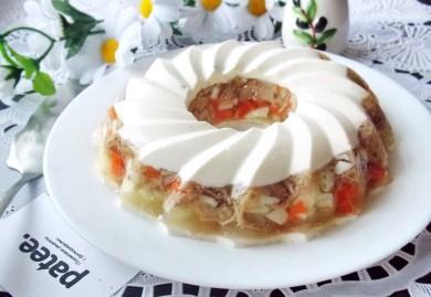 Рецепт Заливное из индейки Праздничное