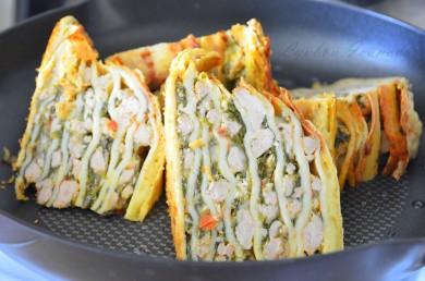 Рецепт Острая лазанья из блинчиков