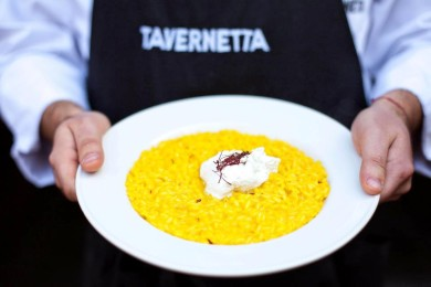 Рецепт Ризотто с шафраном и козьим сыром Каприно