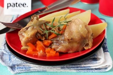 Рецепт Кролик, тушеный с овощами в мультиварке — рецепт для мультиварки