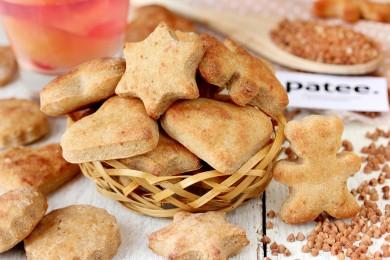 Рецепт Печенье из гречневой муки с творогом