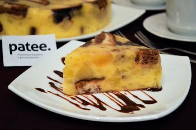 Рецепт Яблочный торт с ванильным пудингом