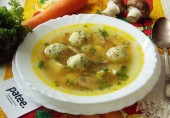 Суп с галушками и грибами