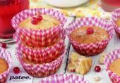 Кукурузные кексы с красной смородиной