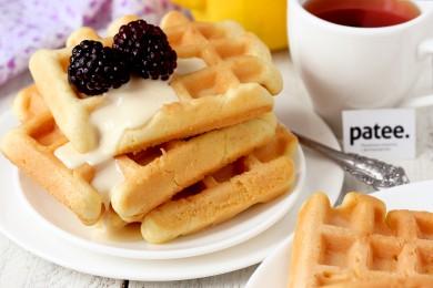 Рецепт Бисквитные вафли Минутка — рецепт для вафельницы