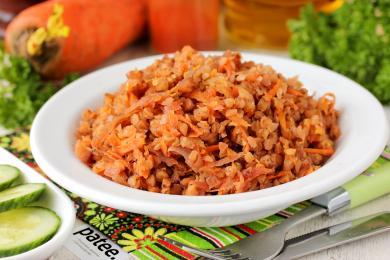Рецепт Гречка со свёклой и морковью в мультиварке — рецепт для мультиварки